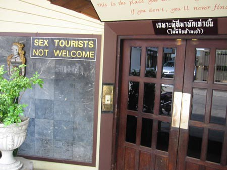 Sex tourists not welcome